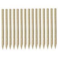 vidaXL 15 db hegyes impregnált fenyőfa kerítésoszlop 4 x 170 cm