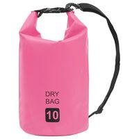 vidaXL rózsaszín PVC szárazzsák 10 L