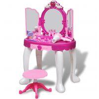 Gyerek álló fésülködőasztal 3 tükörrel, fényekkel és hangeffektusokkal