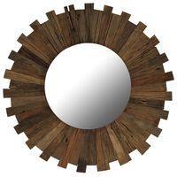 vidaXL tömör újrahasznosított fa keretű falitükör 70 cm