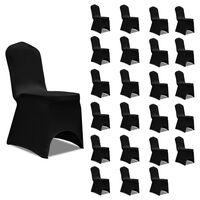 vidaXL 24 db fekete sztreccs székszoknya
