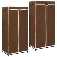 vidaXL 2 db barna ruhásszekrény 75 x 50 x 160 cm