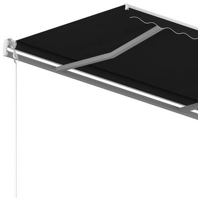 vidaXL antracitszürke automata napellenző 400 x 350 cm