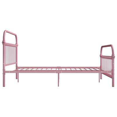 vidaXL rózsaszín fém ágykeret 140 x 200 cm