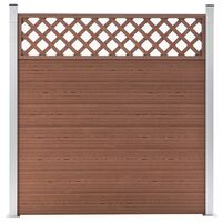 vidaXL barna WPC kerítéspanel 180 x 185 cm