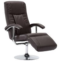 vidaXL barna műbőr TV-fotel
