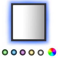 vidaXL szürke LED-es forgácslap fürdőszobai tükör 40 x 8,5 x 37 cm