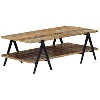 vidaXL tömör újrahasznosított fa dohányzóasztal 115 x 60 x 40 cm