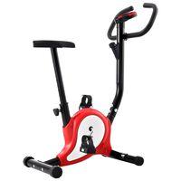 vidaXL piros szíjhajtású szobakerékpár