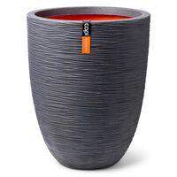 Capi Nature Rib sötétszürke színű elegáns váza 36 x 47 cm