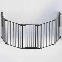 Noma Modular 94238 5-paneles fekete fém biztonsági kapu