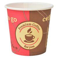 vidaXL 1000 db eldobható papír kávés pohár 120 ml (4 uncia)