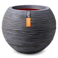 Capi Nature Rib sötétszürke gömb alakú váza 40 x 32 cm