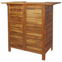 vidaXL tömör akácfa bárasztal 110 x 50 x 105 cm