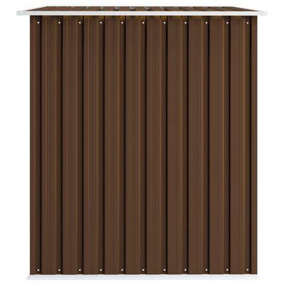 vidaXL barna acél kerti fészer 257 x 205 x 178 cm