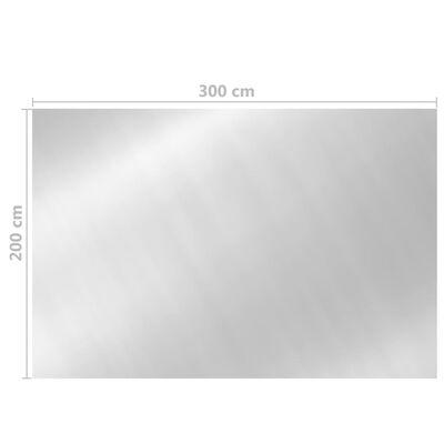 vidaXL ezüst polietilén medencetakaró 300 x 200 cm