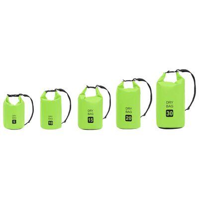 vidaXL zöld PVC szárazzsák 10 L