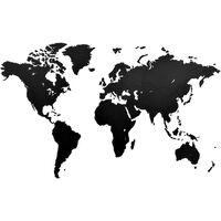 MiMi Innovations Luxury fekete világtérkép fali dekoráció 130 x 78 cm