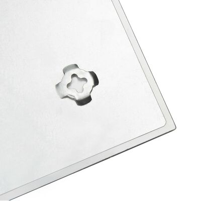 vidaXL falra szerelhető mágneses üvegtábla 50 x 50 cm