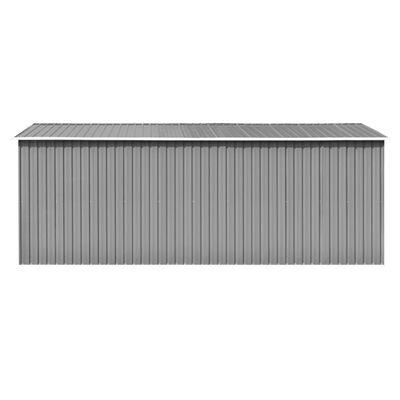 vidaXL szürke fém kerti fészer 257 x 489 x 181 cm