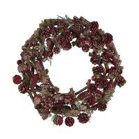 Piros Karácsonyi Koszorú ⌀ 50 Cm Filpus