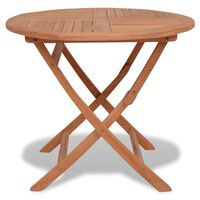vidaXL tömör tíkfa összecsukható kerti asztal 85 x 76 cm