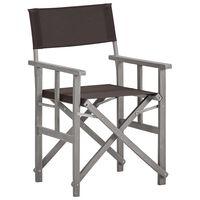 vidaXL tömör akácfa rendezői szék