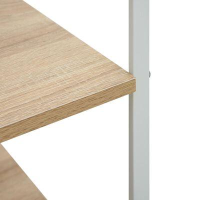 vidaXL fehér és tölgyszínű forgácslap mikrosütő szekrény 60x39,6x123cm