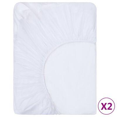vidaXL 2 db fehér vízálló pamut lepedő 200 x 220 cm