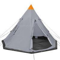 vidaXL négyszemélyes szürke sátor