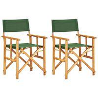 vidaXL 2 db zöld tömör akácfa rendezői szék