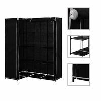 vidaXL fekete sarokruhásszekrény 130 x 87 x 169 cm