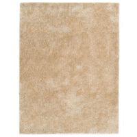 vidaXL bézsszínű bozontos szőnyeg 160 x 230 cm