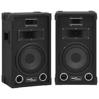 vidaXL 2 db fekete professzionális passzív színpadi hangszóró 800 W