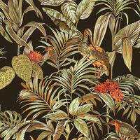 DUTCH WALLCOVERINGS fekete paradicsommadaras tapéta