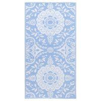 vidaXL babakék PP kültéri szőnyeg 80 x 150 cm