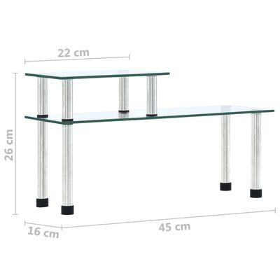vidaXL átlátszó edzett üveg konyhai polc 45 x 16 x 26 cm