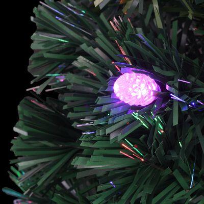 vidaXL 280 ágú műfenyő talppal és LED fénnyel 210 cm