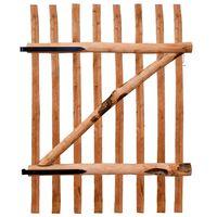 vidaXL impregnált mogyorófa deszka-kerítéskapu 100 x 150 cm