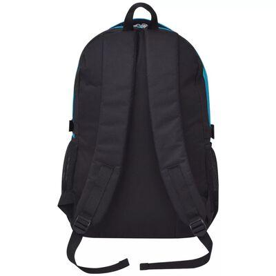 vidaXL 40 literes iskolai hátizsák fekete és kék