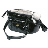 FLAMINGO Lola fekete kisállatszállító táska 25 x 16 x 15 cm
