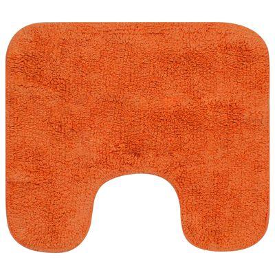 vidaXL 2 darabos narancssárga szövet fürdőszobaszőnyeg-garnitúra