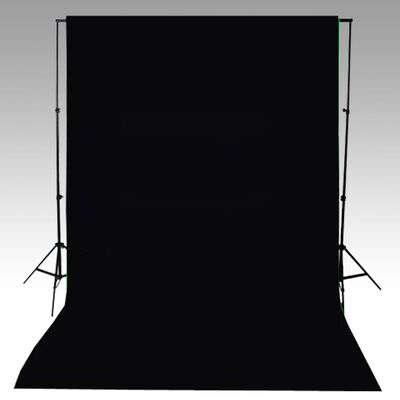 vidaXL fekete pamut háttér 600 x 300 cm