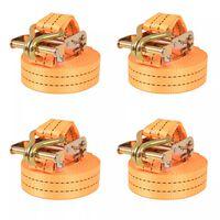 vidaXL 4 db narancssárga racsnis spanifer 1 tonna 6 m x 38 mm