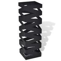 Szögletes esőermyő / sétabot tartó 48,5 cm fekete