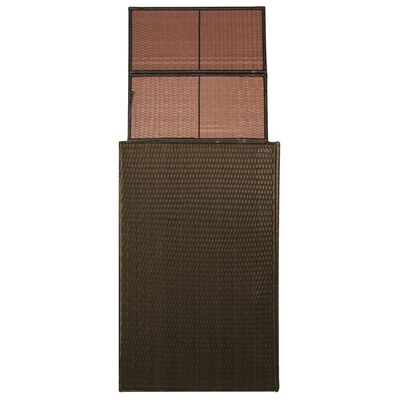 vidaXL barna polyrattan kukatároló kerekes kukához 76 x 78 x 120 cm