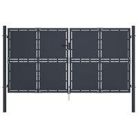 vidaXL antracitszürke acél kertkapu 300 x 150 cm