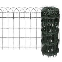 vidaXL kerti porszórt bevonatú vas szegélyező kerítés 10 x 0,65 m