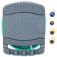 vidaXL antracitszürke műanyag falra szerelhető tömlődob tömlővel