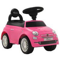 vidaXL rózsaszín ráülős Fiat 500 játékautó